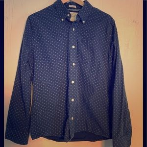 Navy and red  Abercrombie and Fitch button up